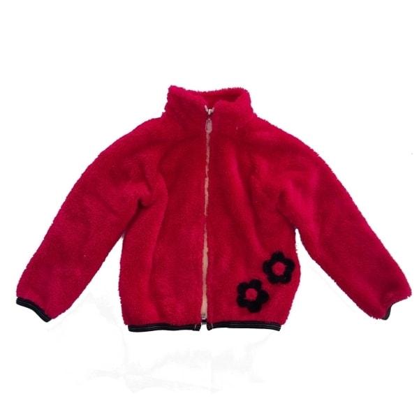 DĚTSKÁ MIKINA NA ZIP FURRY MALINOVÁ  Velikost oblečení  116 122 ... 5569833fc5