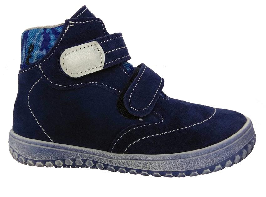 2e523dda4f7 Dětská kožená obuv Jonap B3 modrý maskáč - JONAP - Celoroční boty -  Barefoot boty