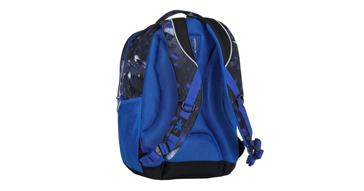 Studentský batoh 2v1 LIAN Mix blue - Explore - Studentské batohy - Školní  batohy d34d539faa