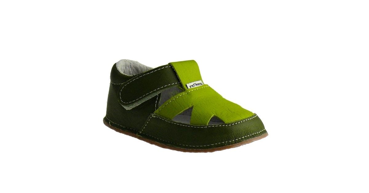 Pegres bosé sandálky vzor 1096 zelené - PEGRES - První krůčky - Barefoot  boty 799d0fb584