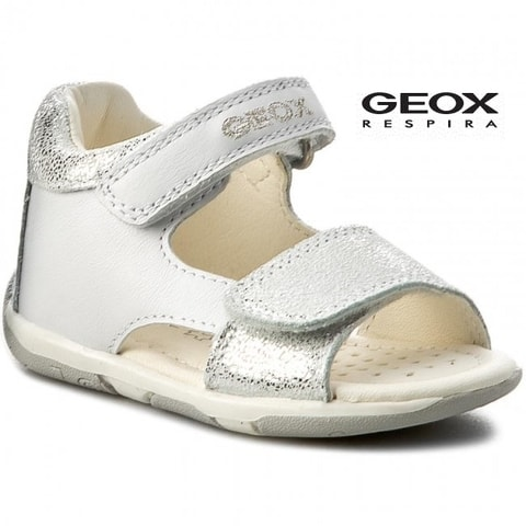 SANDÁLY GEOX B S.TAPUZ G.A WHITE/SILVER