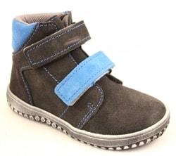 Dětská kožená obuv Jonap B2 šedo-tyrkysová - JONAP - Celoroční boty -  Barefoot boty 48ecede3cf